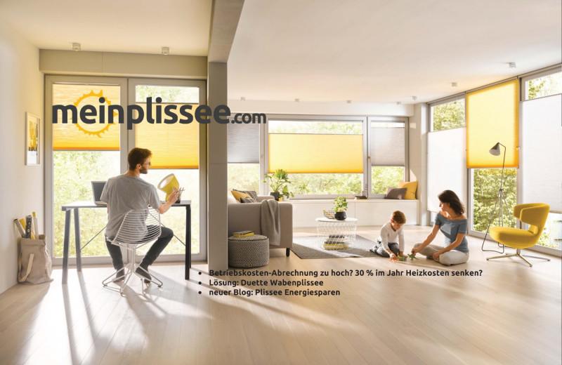 Plissee Online Shop Maßanfertigung Energiesparen Mein Plissee